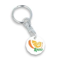£1 TROLLEY COIN KEYRING